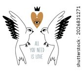 all you need is love. print ... | Shutterstock .eps vector #2026831271