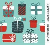 seamless pattern for christmas... | Shutterstock .eps vector #2026883354