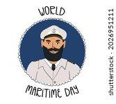 world maritime day banner....   Shutterstock .eps vector #2026951211