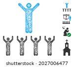 mesh religion guru web icon... | Shutterstock .eps vector #2027006477