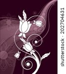 abstract floral background.... | Shutterstock .eps vector #202704631