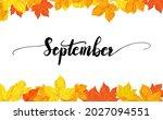 september greeting card...   Shutterstock .eps vector #2027094551