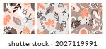 seamless pattern with abstract... | Shutterstock .eps vector #2027119991