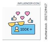 followers color icon. macro... | Shutterstock .eps vector #2027129417