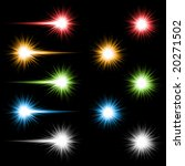 set of 10 bright coloured... | Shutterstock . vector #20271502