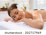 young vietnamese woman enjoying ... | Shutterstock . vector #202717969