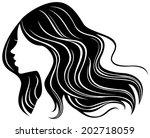 wavy hair | Shutterstock .eps vector #202718059
