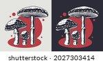 mushroom picking of amanita....   Shutterstock .eps vector #2027303414