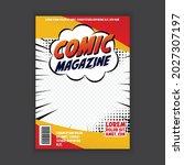 vector comic book cover... | Shutterstock .eps vector #2027307197