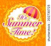 vector summer time background | Shutterstock .eps vector #202730725