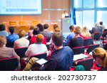 business conference and... | Shutterstock . vector #202730737