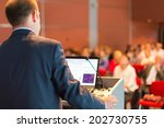 speaker at business conference... | Shutterstock . vector #202730755