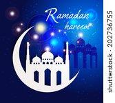 ramazan kareem greeting card  ... | Shutterstock .eps vector #202736755