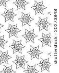 white edelweiss pattern  ...   Shutterstock .eps vector #20273848