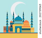 islamic greeting card with... | Shutterstock .eps vector #202739065