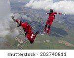 skydiving photo. | Shutterstock . vector #202740811