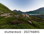 high altitude alpine landscape...   Shutterstock . vector #202746841