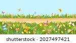seamless sandy road. horizontal ...   Shutterstock .eps vector #2027497421
