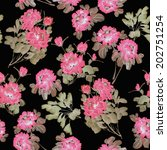seamless floral pattern with... | Shutterstock . vector #202751254