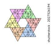 star sudoku game for school... | Shutterstock .eps vector #2027526194