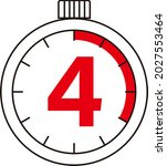 electronic digital stopwatch....   Shutterstock .eps vector #2027553464
