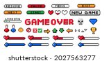 pixel game ui. 8 bit interface...