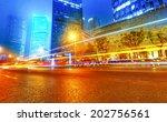 the light trails on the modern... | Shutterstock . vector #202756561