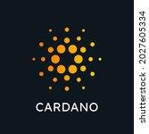 cardano  ada  crypto currency...   Shutterstock .eps vector #2027605334
