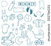 newborn baby boy clip art with... | Shutterstock .eps vector #202766251
