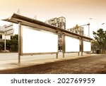 the blank side of the road city ...   Shutterstock . vector #202769959