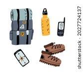 tourist  explorer  alpinist...   Shutterstock .eps vector #2027724137