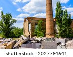 Ruins Of Old Abandoned Factory. ...
