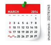 march 2014   calendar | Shutterstock . vector #202781965