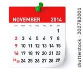 november 2014   calendar   Shutterstock . vector #202782001