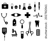 medical icons with white... | Shutterstock .eps vector #202782061