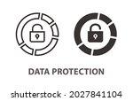 data protection icon. vector... | Shutterstock .eps vector #2027841104