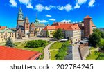 a view of a wawel castle with... | Shutterstock . vector #202784245