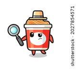instant noodle detective... | Shutterstock .eps vector #2027854571