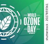 world ozone day. september 16....   Shutterstock .eps vector #2027855561