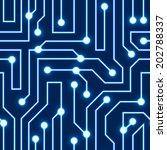 Blue Circuit Board Vector...