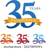 superb 35 years experience... | Shutterstock .eps vector #2027895491