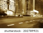 the night view of the lujiazui... | Shutterstock . vector #202789921