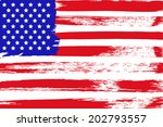 painted american flag | Shutterstock . vector #202793557