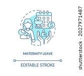 maternity leave blue concept...   Shutterstock .eps vector #2027971487