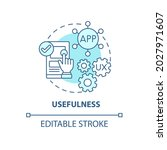 product usefulness concept icon....