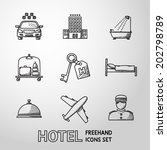 hotel and service monochrome... | Shutterstock .eps vector #202798789