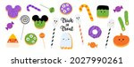 cute halloween sweets and...   Shutterstock .eps vector #2027990261