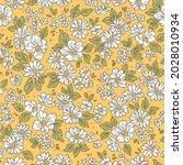 vintage floral background.... | Shutterstock .eps vector #2028010934