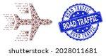 road traffic grunge round seal...   Shutterstock .eps vector #2028011681