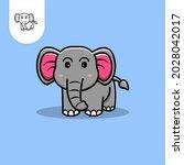 elephant logo icon on white...
